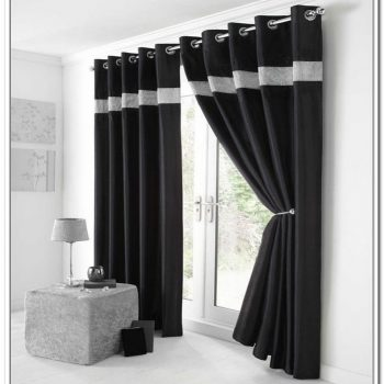 dazzling-black-modern-curtain-design-plus-nice-white-lined-decor-at-top-the-curtain-design-with-cool-glass-door-idea